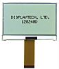 Displaytech 128240D-FC-BW-3 Graphic LCD Display, White on Black,