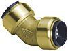 Pegler Yorkshire Obtuse Brass Push Fit Fitting 15mm