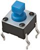 Blue Button Tactile Switch, Single Pole Single Throw (SPST) 50 mA @ 24 V dc 2.9mm