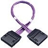 HellermannTyton Cat6 RJ45 6 Port Cassette to Cassette Cable Assembly, UTP Shielding