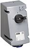 ABB Switchable IP44 Industrial Interlock Socket 2P+E, Earthing