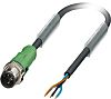 Phoenix Contact M12 3-Pin Male Cable for use