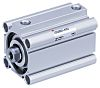 SMC Pneumatic Compact Cylinder 40mm Bore, 20mm Stroke,