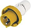 RS PRO IP66, IP67 Yellow Cable Mount 2P+E