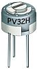 1kΩ, Through Hole Trimmer Potentiometer 0.5W Top Adjust Bourns, PV32
