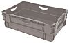 RS PRO 36L Grey PP Large Storage Box, 190mm x 400mm x 600mm