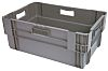 RS PRO 47L Grey PP Large Storage Box,
