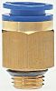 SMC Pneumatic Straight Threaded-to-Tube Adapter, Push In 6