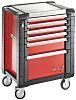 Facom 6 drawer Steel WheeledTool Chest, 774mm x