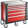 Facom 6 drawer Steel WheeledTool Chest, 1154mm x