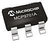 Microchip Spannungstemperaturfühler, IF Analog, SC-70, 5-Pin, -10 bis +125 °C.