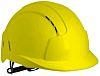 JSP EVOLite Adjustable Yellow Hard Hat, Ventilated