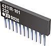 Bourns Bussed Resistor Network ±2% 9 Resistors, 1.25W