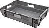 RS PRO 26L Grey Plastic Medium Storage Box,
