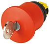 Eaton Mushroom Red - Latching, M22 Series, 22mm Cutout, Round