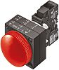 Siemens, Panel Mount Red LED Pilot Light, 22.3mm Cutout, IP66, 24 V ac/dc