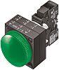 Siemens Green LED Pilot Light, 22.3mm Cutout, IP66,