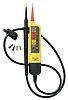Comprobador de tensión Fluke T90, calibrado RS, hasta 690V, prueba de continuidad, IP54, CAT II 690V