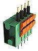Amphenol FCI Non-Fused Terminal Block, 4 Way/Pole, 24