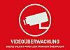 ABUS Red/White Surveillance Warning Sticker,