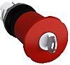 ABB Panel Mount Emergency Button - Key Reset,