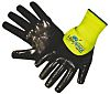 HexArmor, Black Nitrile Coated Work Gloves, Size 8