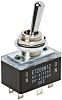Copal Electronics DPST Toggle Switch, On-Off, Panel Mount