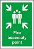 RS PRO Plastic Fire Safety Sign, Assembly Point