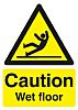 RS PRO Self-Adhesive Caution Wet Floor Hazard Warning