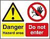 RS PRO Danger Hazard Area, Do Not Enter