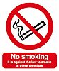 PP Rigid Plastic No Smoking Prohibition Sign, No