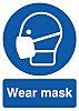 RS PRO PP Rigid Plastic Mandatory Mask Sign