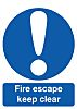 RS PRO Plastic Fire Safety Sign, Fire Exit