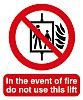 PP Rigid Plastic Fire Safety Prohibition Sign, Event