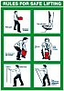 RS PRO Rules for Safe Lifting Safety Wall