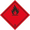 RS PRO Black/Red Vinyl Safety Labels, Flammable-Text 100