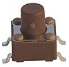 Brown Stem Tactile Switch, Single Pole Single Throw