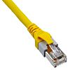 HARTING Yellow PUR Cat5e Cable SF/UTP, 600mm Male