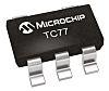 Sensor de temperatura TC77-3.3MCTTR, 13 bits, encapsulado SOT-23 5 pines, interfaz Serie-microcable, serie-SPI