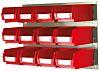 RS PRO PP Storage Bin Louvred Panel, 75mm