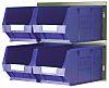 RS PRO PP Storage Bin Louvred Panel, 132mm
