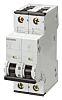 Mini megszakító (MCB) 2-pólusú, 6A, megszakítási teljesítmény: 10 kA, megszakítási karakterisztika: B típusú