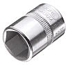 Gedore 10mm Hex Socket With 1/4 in Drive , Length 25 mm