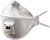 3M 9322 Disposable Respirator, FFP2, Valved Adjustable Nose