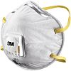 3M 8812 Disposable Respirator, FFP1, Valved