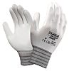 Ansell Hyflex, White Polyurethane Coated Work Gloves, Size