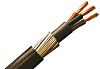 RS PRO 3 Core Armoured Cable With Polyvinyl Chloride PVC Sheath , SWA Galvanised Steel Wire, 44 A