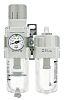 SMC Rc 3/8 FRL Assembly, Automatic Drain, 5μm