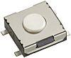 White Tactile Switch, Single Pole Single Throw (SPST)