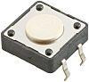 White Button Tactile Switch, Single Pole Single Throw